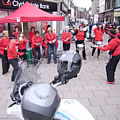 Samba Sisters play at the Easter Egg Run Dumfries April 2011