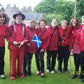 The Sisters play for the Queen in Kirkcudbright 2010