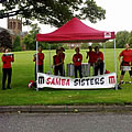 Samba Sisters play for the runners of Dumfries Run 4 Health